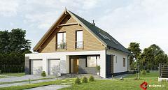 Projekt domu E-265 Prosty dom z dużym garażem