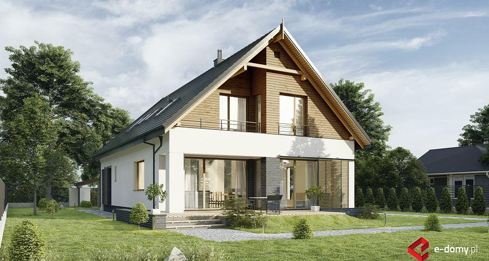Projekt domu Prosty dom z dużym garażem E-265