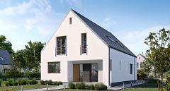 Projekt domu E-267 Nowoczesny dom na wąskie działki