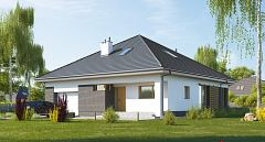 Projekt domu E-263 Mały dom parterowy z dwoma sypialniami