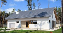 Projekt domu E-171a Prosty dom z dwuspadowym dachem