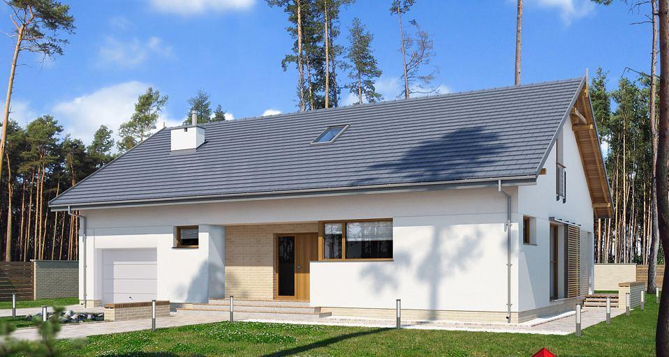 Projekt domu Prosty dom z dwuspadowym dachem E-171a