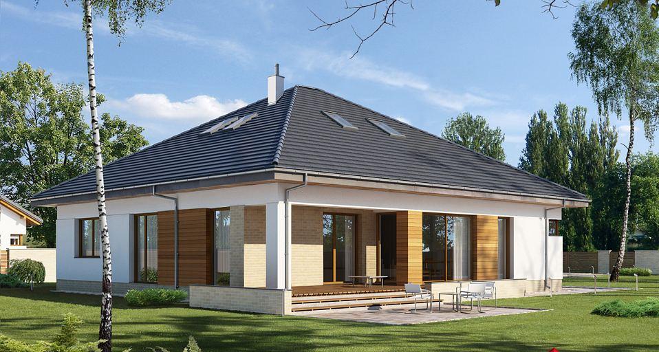 Projekt domu Zwarty dom parterowy E-227