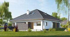 Gotowy projekt domu Mały dom na planie kwadratu E-269