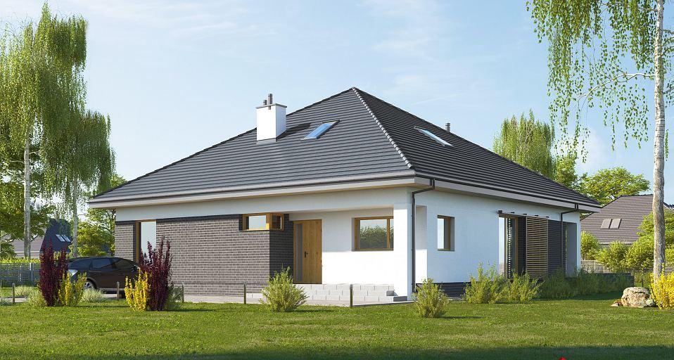 Projekt domu Mały dom na planie kwadratu E-269