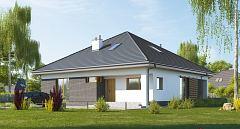 Projekt domu E-269a Dom parterowy na planie kwadratu