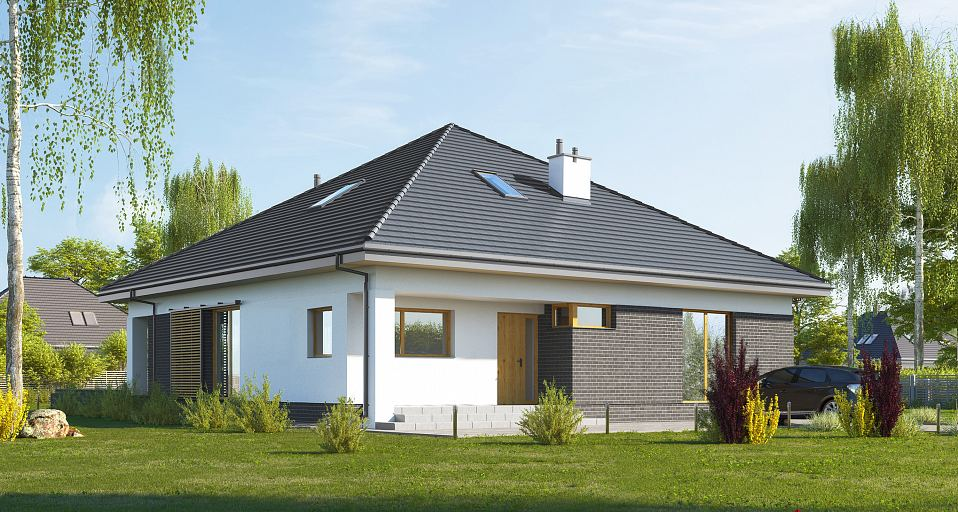 Projekt domu Dom parterowy na planie kwadratu E-269a