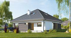 Projekt domu E-270 Zwarty dom parterowy