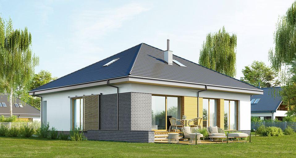 Projekt domu Zwarty dom parterowy E-270