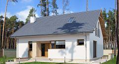 Gotowy projekt domu Mały dom z poddaszem nieużytkowym E-272