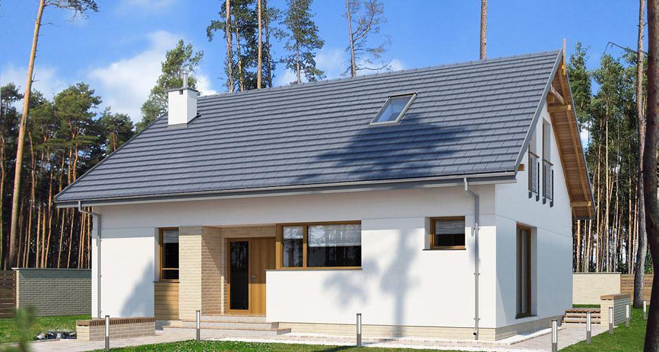 Projekt domu Mały dom z poddaszem nieużytkowym E-272