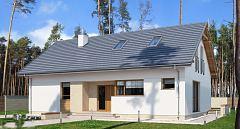Gotowy projekt domu Prosty dom o tradycyjnej bryle E-275