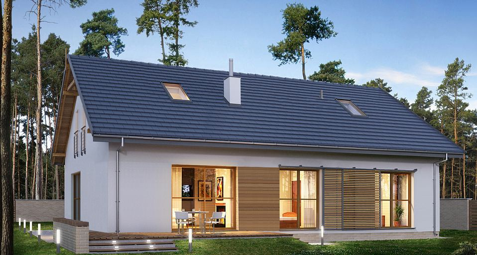 Projekt domu Prosty dom o tradycyjnej bryle E-275