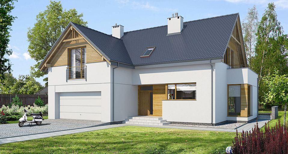 Projekt domu Tradycyjny projekt domu E-103