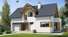 Projekt domu E-104 Mały tradycyjny dom