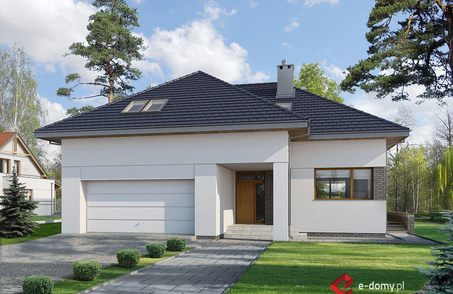E 105 Nowoczesny Dom Z Czterospadowym Dachem E Domypl Projekty