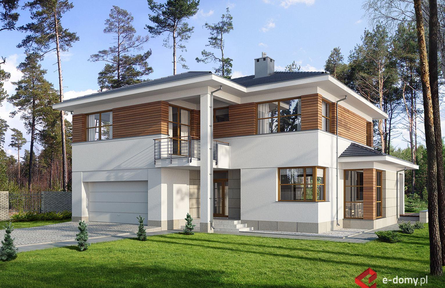 E 106 Dom Piętrowy Rezydencja E Domypl Projekty Domów