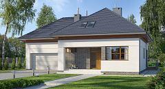 Projekt domu E-108 Duży dom z poddaszem