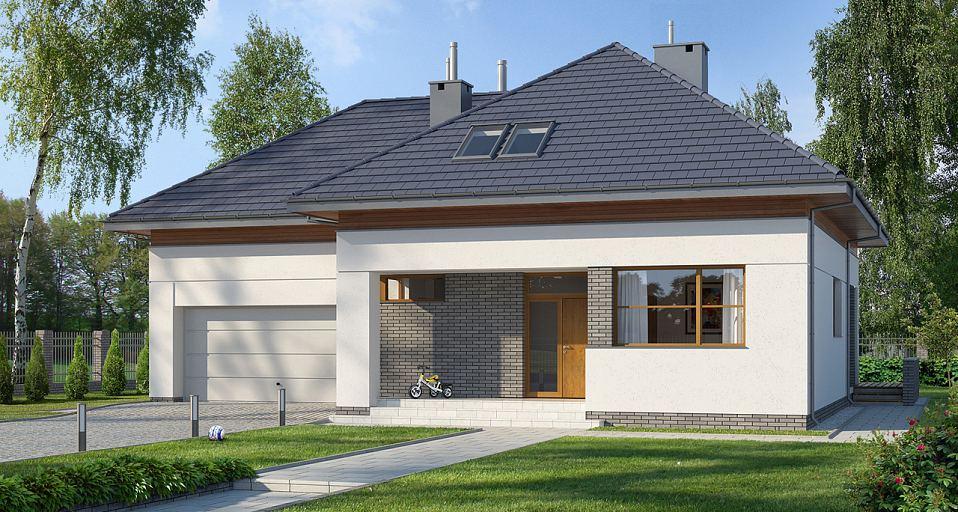 Projekt domu Duży dom z poddaszem E-108
