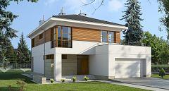 Projekt domu E-109 Dom piętrowy na wąską działkę