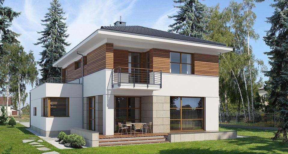 Projekt domu Dom piętrowy na wąską działkę E-109