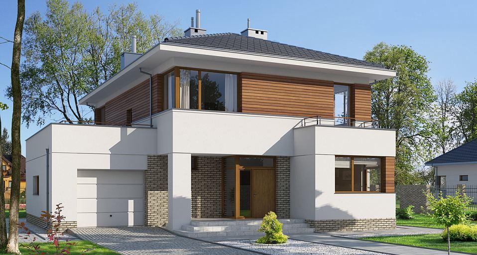 e 110 dom pi trowy o charakterze rezydencjonalnym e projekty dom w jednorodzinnych. Black Bedroom Furniture Sets. Home Design Ideas