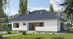 Projekt domu E-112 Dom parterowy bez garażu