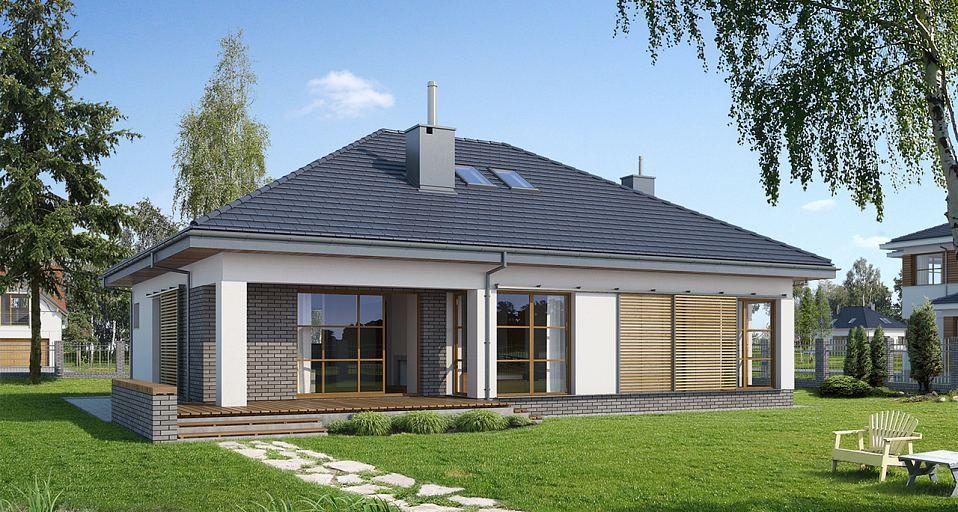 Projekt domu Dom parterowy bez garażu E-112
