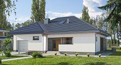 Projekt domu E-113 Mały dom z dużą kotłownią