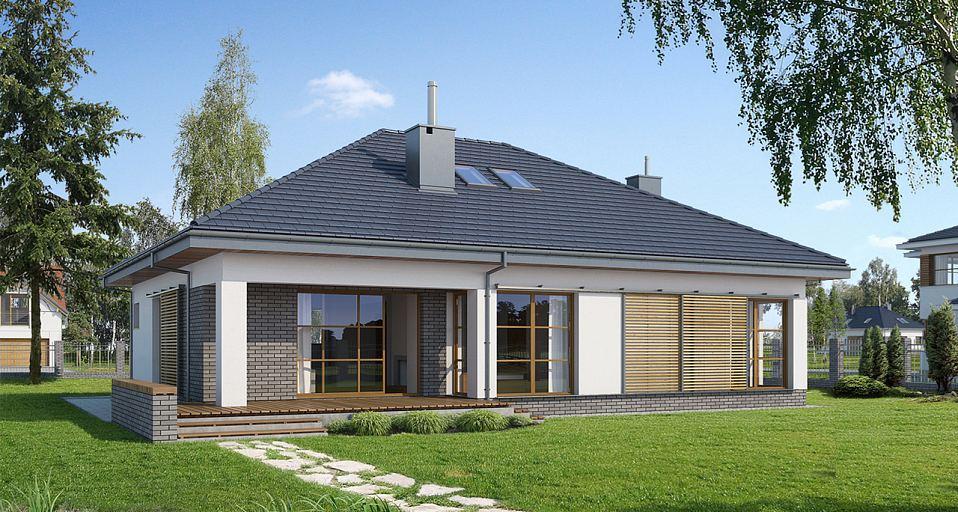 Projekt domu Mały dom z dużą kotłownią E-113