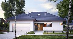 Projekt domu E-114 Niewielki dom parterowy
