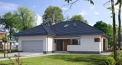 Projekt domu E-116 Niewielki dom parterowy