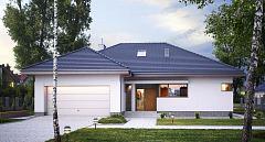 Projekt domu E-118 Komfortowy dom parterowy