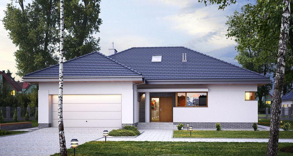 Projekt domu Komfortowy dom parterowy E-118