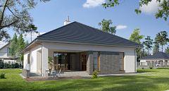 Projekt domu E-121 Przestronny dom na wąską działkę