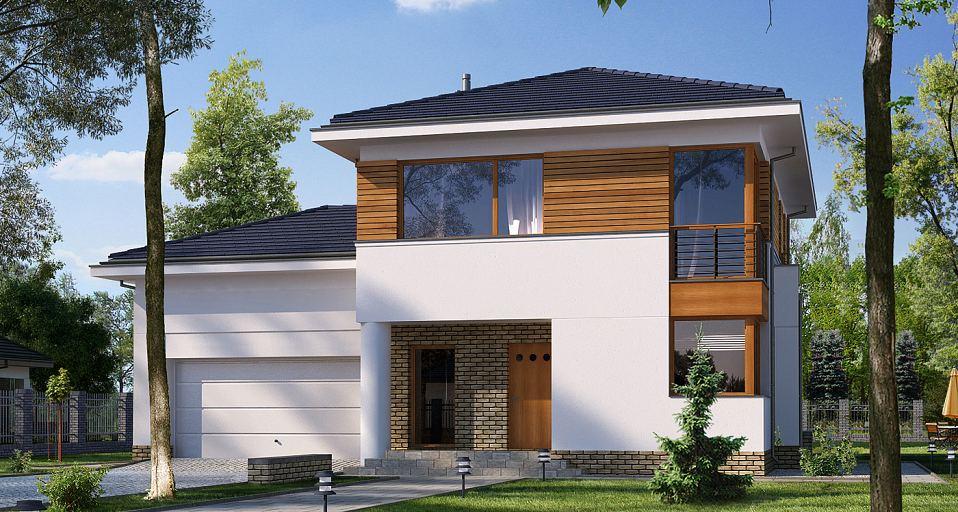 Projekt domu Prosty dom piętrowy E-125