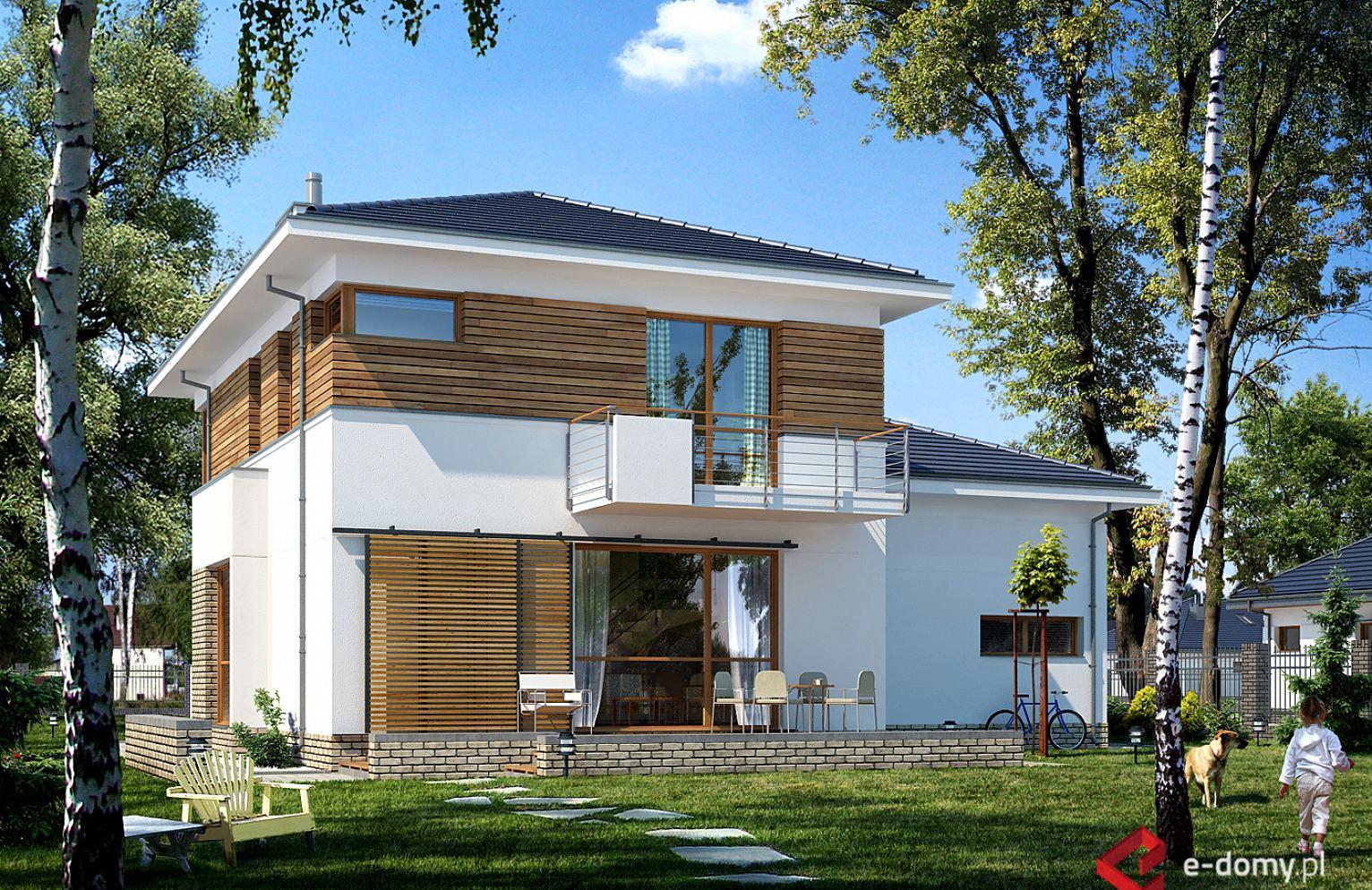 E 125 Mały Dom Piętrowy E Domypl Projekty Domów Jednorodzinnych