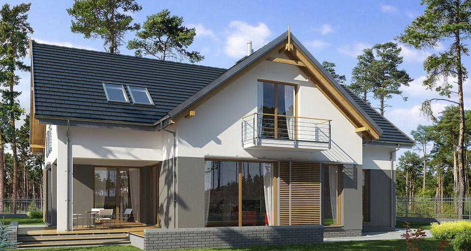 Projekt domu Dom z dachem dwuspadowym E-127