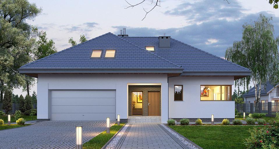 Projekt domu Dom z dużą jadalnią i tarasem E-128