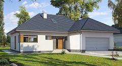 Projekt domu E-129 Dom z antresolą