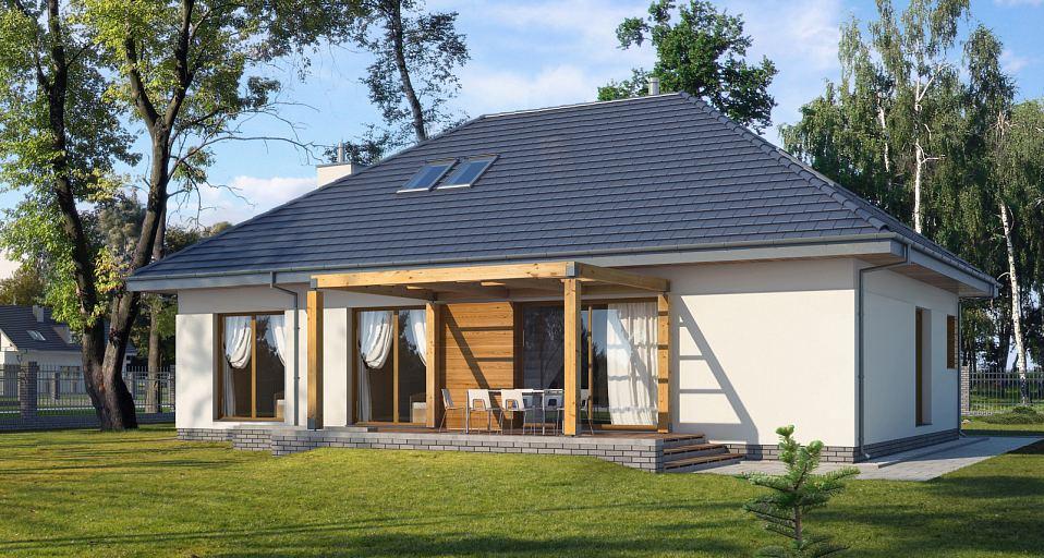 Projekt domu Dom z antresolą E-129