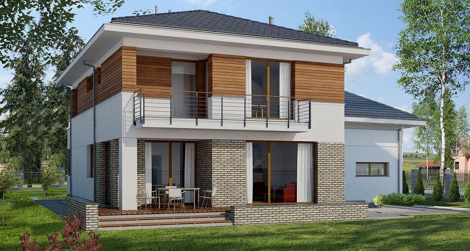 Projekt domu Dom z pokojem gościnnym E-130