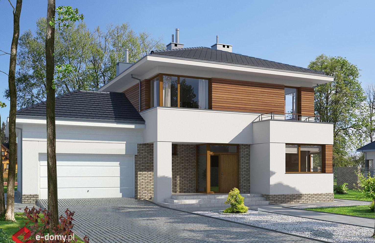 c0caffc26421dd E-130 Dom piętrowy z pokojem od frontu - E-DOMY.pl Projekty domów  jednorodzinnych, nowoczesnych, piętrowych, energooszczędnych.