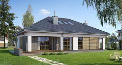 Projekt domu E-132 Prosty dom parterowy