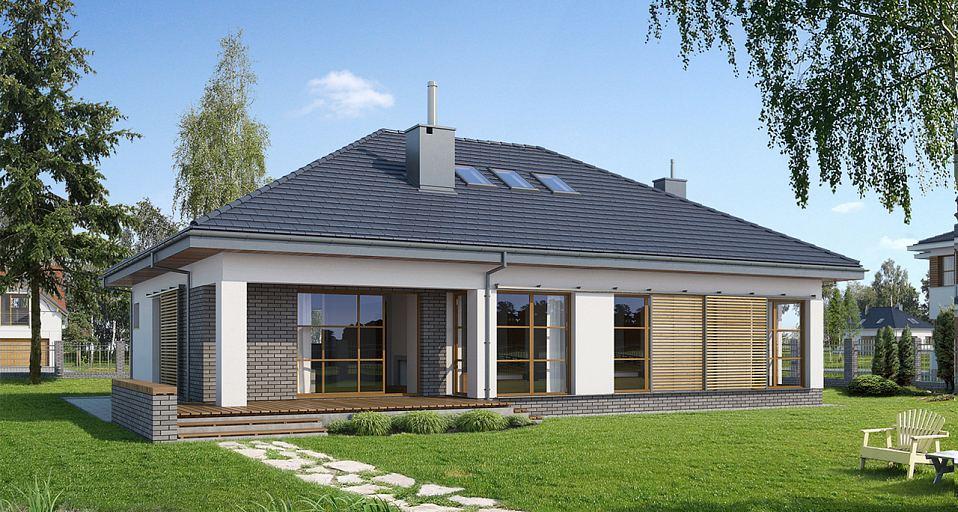 Projekt domu Prosty dom parterowy E-132