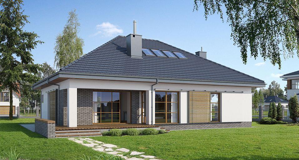 Projekt domu Dom z poddaszem użytkowym E-134