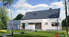 Projekt domu E-136 Dom nowoczesny dwuspadowy