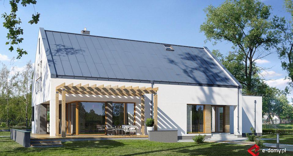 Projekt domu Dom nowoczesny dwuspadowy E-136