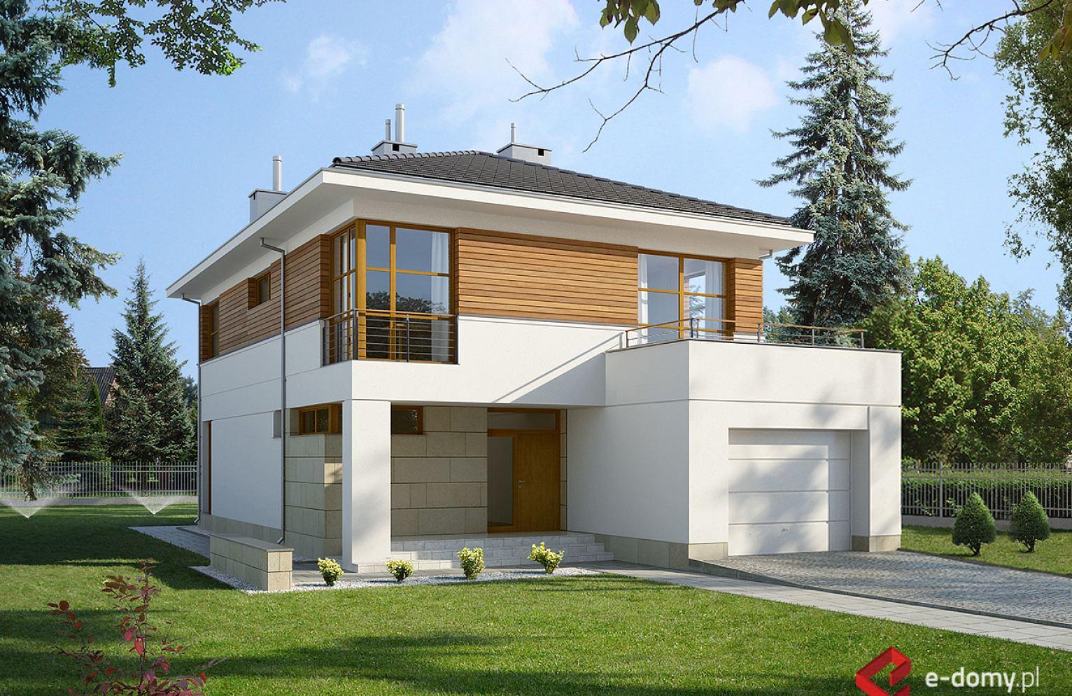 E 139 Dom Piętrowy Na Wąską Działkę E Domypl Projekty Domów