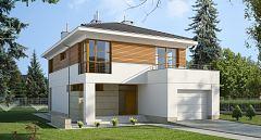 Projekt domu E-139 Dom piętrowy na wąską działkę